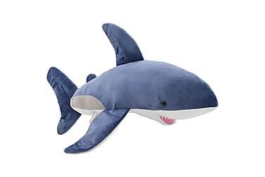 Gosedjur haj plysch blå och vit