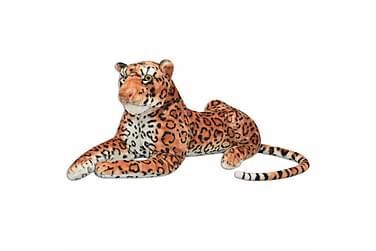 Leopardleksak plysch brun XXL