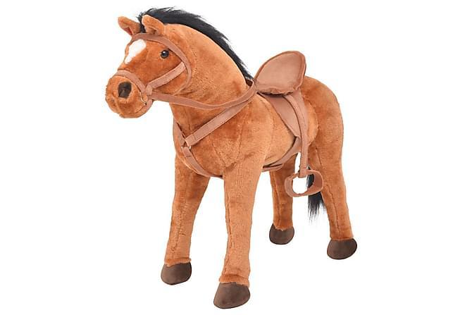 Stående leksakshäst plysch brun - Brun - Heminredning - Inredning barnrum - Dekoration barnrum