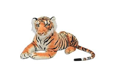 Tigerleksak plysch brun XXL