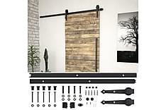 Skjutdörrsbeslag 200 cm stål svart