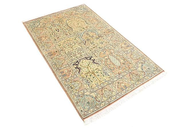 Orientalisk Silkesmatta Kashmir 94x157 - Flerfärgad - Heminredning - Mattor - Äkta silkesmattor