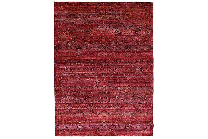 Stor Silkesmatta Sari 178x242 - Röd - Heminredning - Mattor - Äkta silkesmattor