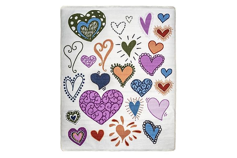 Hjärta Matta 133x170 Gummerad
