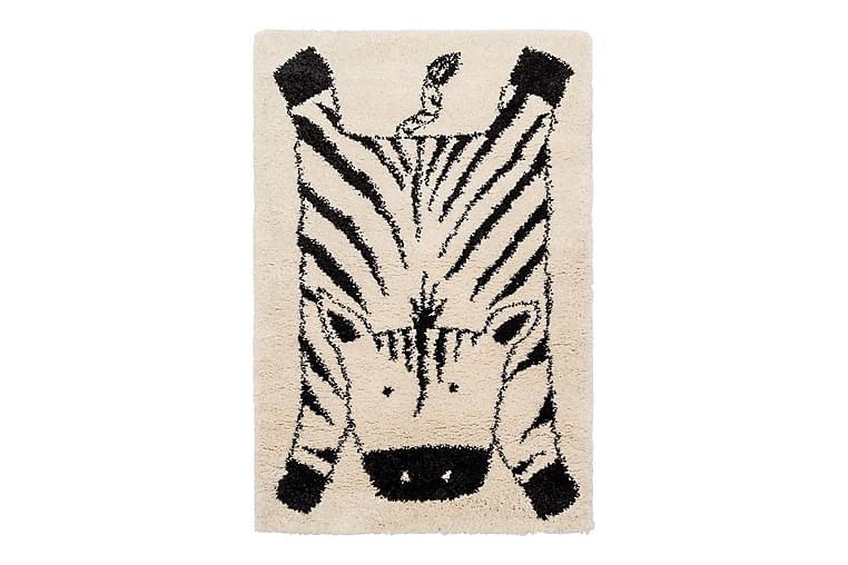 Kid's Shaggy Matta Zebra Vit/Svart - AFK Living - Heminredning - Mattor - Barnmatta