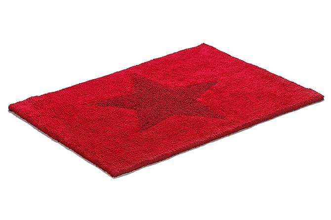 ETOL Star Bomullsmatta 50x70 Vändbar - Röd - Heminredning - Mattor - Trasmattor