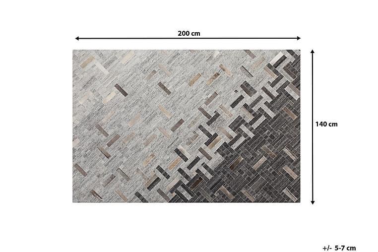 Galanter Matta 140x200 cm Läder - Grå - Heminredning - Mattor - Fällar & skinnmattor