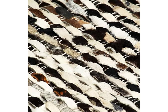 Matta äkta läder 120x170 cm svart/vit - Svart|Vit - Heminredning - Mattor - Fällar & skinnmattor
