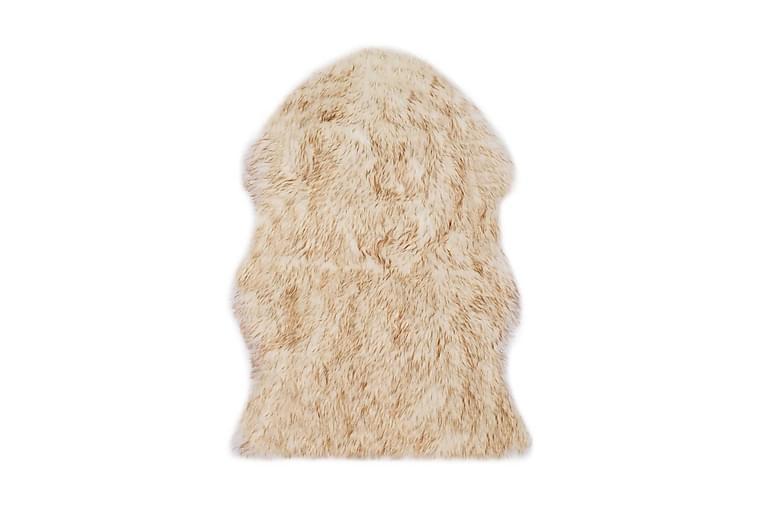 Matta 60x90 cm konstgjort fårskinn brun melange - Brun - Heminredning - Mattor - Fällar & skinnmattor