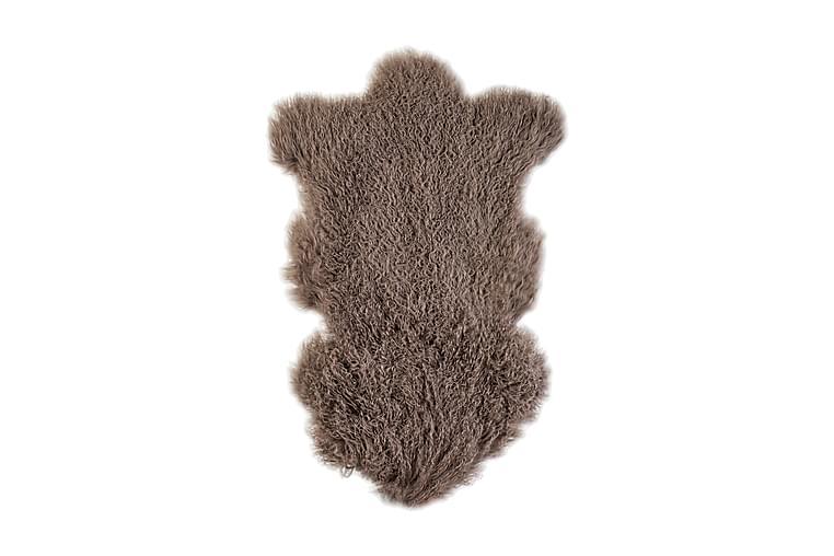 Naturligt Fårskinn Tibet L 60x95 cm Brunt - Heminredning - Mattor - Fällar & skinnmattor