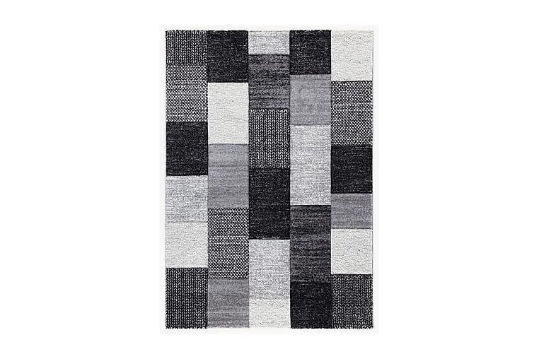 Ray A Flatvävd Matta 80x150 cm Grå/Svart - Vivace - Heminredning - Mattor - Flatvävda mattor