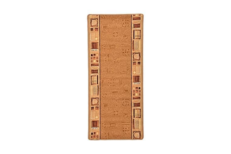 Halkfri gångmatta beige 67x120 cm - Beige - Heminredning - Mattor - Gångmattor