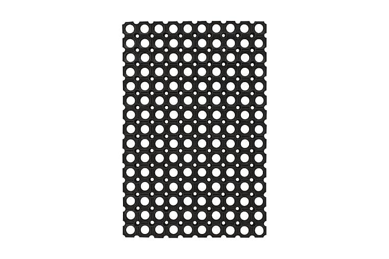 Gummimattor 5 st 23 mm 40x60 cm - Svart - Heminredning - Mattor - Gummerade mattor
