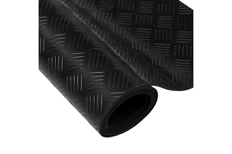 Halkfri gummimatta med durkmönster 2x1 m - Svart - Heminredning - Mattor - Gummerade mattor