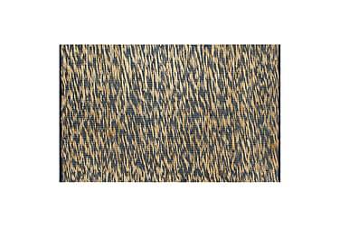 Handgjord jutematta blå och naturlig 160x230