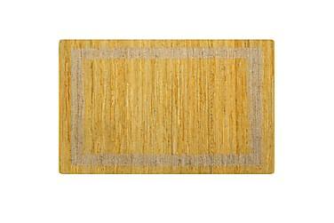 Handgjord jutematta gul 120x180