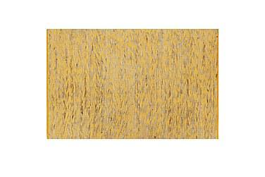 Handgjord jutematta gul och naturlig 120x180