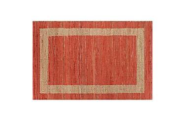 Handgjord jutematta röd 160x230