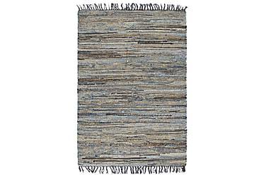 Handvävd jutematta Chindi denim 120x170 flerfärgad