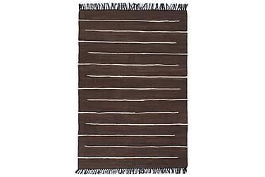 Handvävd matta Chindi bomull 200x290 brun