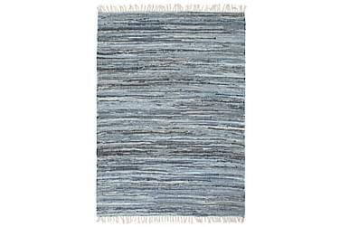 Handvävd matta Chindi denim 120x170 blå