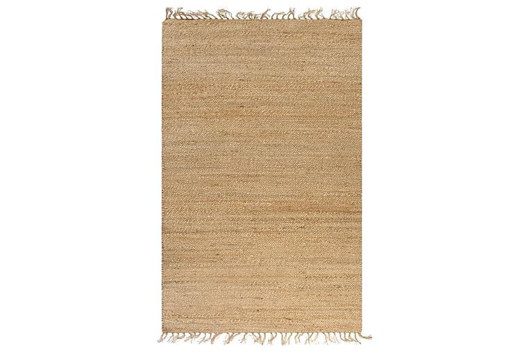 Matta handvävd jute 120x180 cm beige - Beige - Heminredning - Mattor - Handvävda mattor