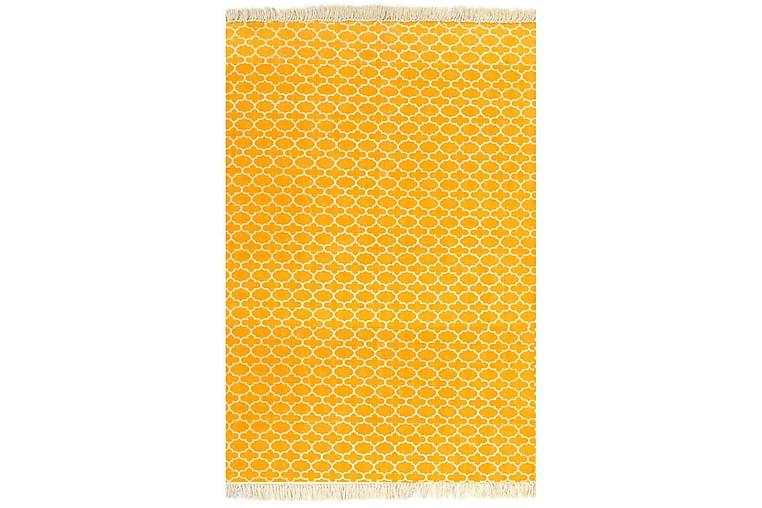 Kelimmatta bomull 120x180 cm med mönster gul - Gul - Heminredning - Mattor - Kelimmattor