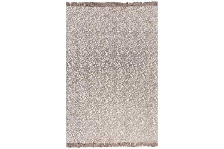Kelimmatta bomull 120x180 cm med mönster taupe - Brun - Heminredning - Mattor - Kelimmattor
