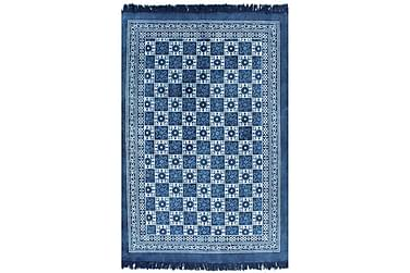 Kelimmatta bomull 160x230 med mönster blå