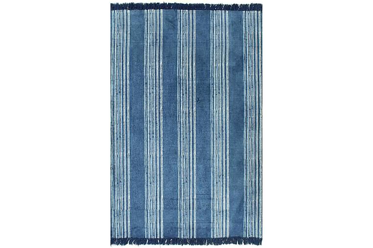 Kelimmatta bomull 160x230 cm med mönster blå - Blå - Heminredning - Mattor - Kelimmattor