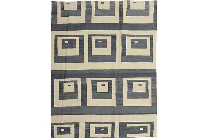 Orientalisk Kelimmatta Moderna 149x195 - Blå Vit - Heminredning - Mattor - Kelimmattor