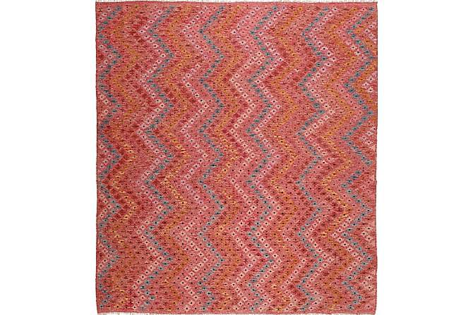 Stor Kelimmatta Afghan 258x280 - Röd - Heminredning - Mattor - Kelimmattor