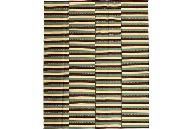 Stor Kelimmatta Moderna 224x270 - Grön Gul - Heminredning - Mattor - Kelimmattor