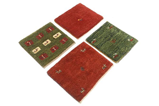 Gabbeh Orientalisk Matta 40x40 4-pack - Röd - Heminredning - Mattor - Orientaliska mattor
