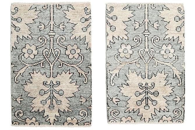 Orientalisk Silkesmatta Himalaya 60x90 - Blå|Vit - Heminredning - Mattor - Orientaliska mattor