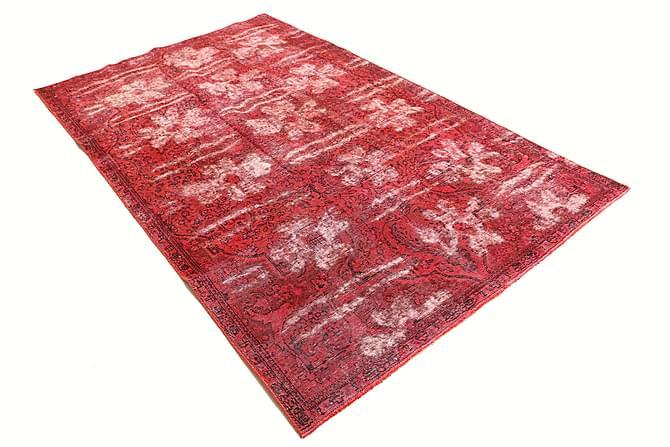 Colored Vintage Patchworkmatta 155x257 - Röd - Heminredning - Mattor - Patchwork-matta