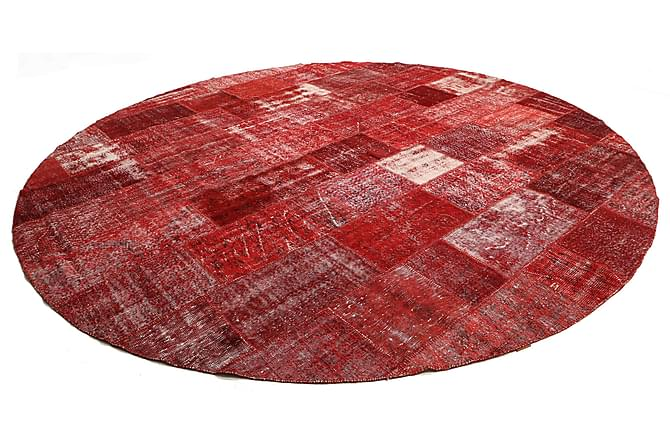 Kathy Patchworkmatta Rund 400 Stor Modern - Röd - Heminredning - Mattor - Patchwork-matta