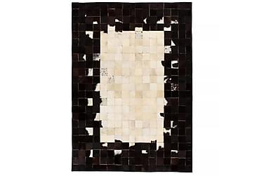 Lumby Matta Lappad 80x150 Fyrkanter Läder