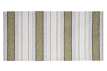Anna Matta Mix 70x220 PVC/Bomull/Polyester Oliv