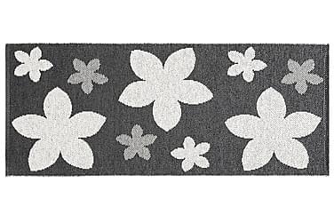 Flower Plastmatta 70x150 Vändbar PVC Svart