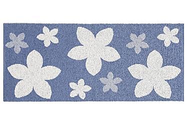Flower Plastmatta 70x350 Vändbar PVC Blå