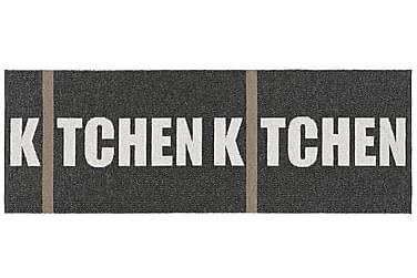 Kitchen Plastmatta 70x200 Vändbar PVC Svart