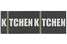 Kitchen Plastmatta 70x300 Vändbar PVC Svart