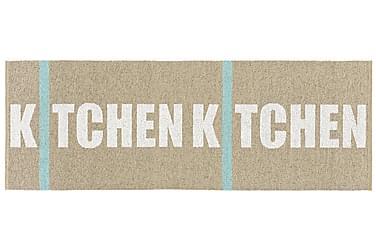 Kitchen Plastmatta 70x350 Vändbar PVC Beige
