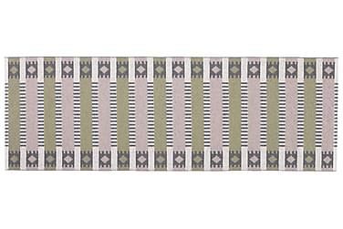 Märta Plastmatta 150x250 Vändbar PVC Rosa/Oliv
