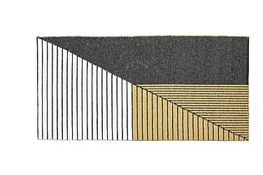 Stripe Plastmatta 150x210 Vändbar PVC Svart/Gul