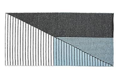 Stripe Plastmatta 70x140 Vändbar PVC Svart/Blå