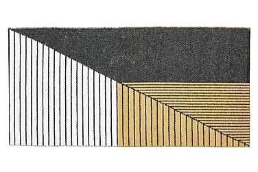 Stripe Plastmatta 70x140 Vändbar PVC Svart/Gul