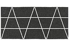 Viggen Plastmatta 70x350 Vändbar PVC Svart