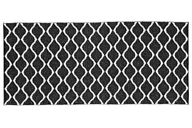 Wave Plastmatta 70x300 Vändbar PVC Svart
